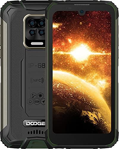DOOGEE S59 Smartphone Movil Resistente, 10050mAh Batería 4GB RAM+64GB ROM lP68 IP69K Telefono Antigolpes, Cámara Quad AI 16MP, Potente Altavoz 2W, Carga Rápida Type-C 24W, Android, 4G, 5.71', NFC/GPS