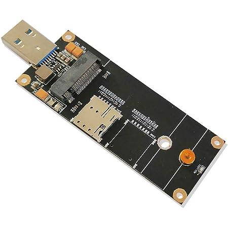 EXVIST 5G LTE産業用M.2(NGFF)-USB3.0アダプターW / NANO SIMカードスロット、Qectel RM500Qなどの5G LTEモジュール用。RaspberryPi産業用ルーターなどのM2MおよびIoTアプリケーションに適用可能