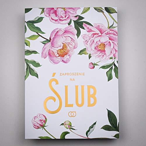ART NUVO WEDDING INVITATIES CARDS - 20 stuks, 120 x 170 mm, WITH PRINTABLE binnen en envelopes voor wedding - gouden folie ontwerp op dubbele coating papier
