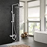 Ducha ducha elevador mano lluvia expuesta grifo mezclador juego de ducha termostato de ducha sistema de ducha de baño juego de ducha