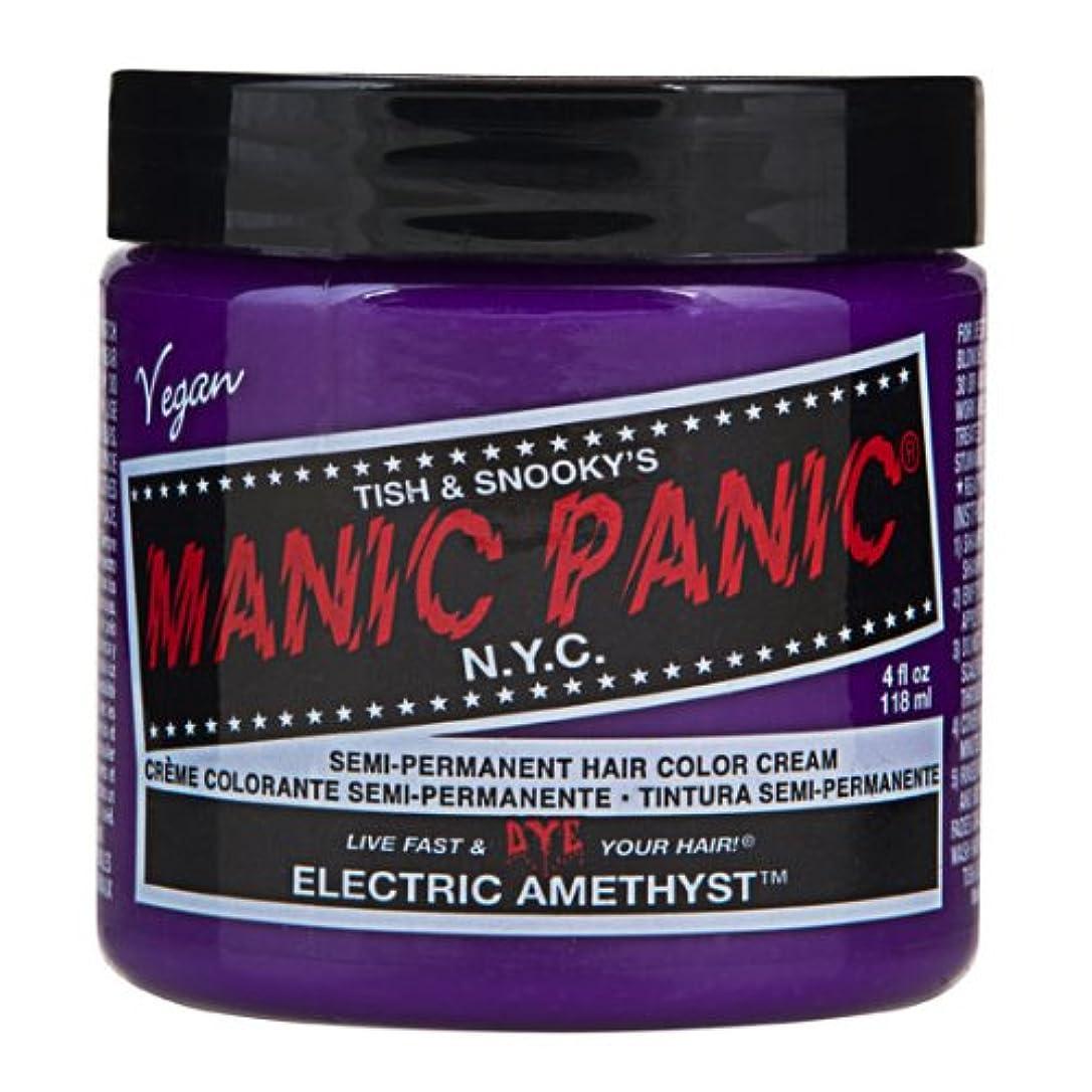 立方体スロー熟練したスペシャルセットMANIC PANICマニックパニック:Electric Amethyst (エレクトリック?アメジスト)+ヘアカラーケア4点セット
