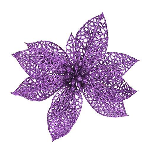 Coloré(TM) Roses de cristal Décorations Simulation Fleur Décoration Fleur (Violet)