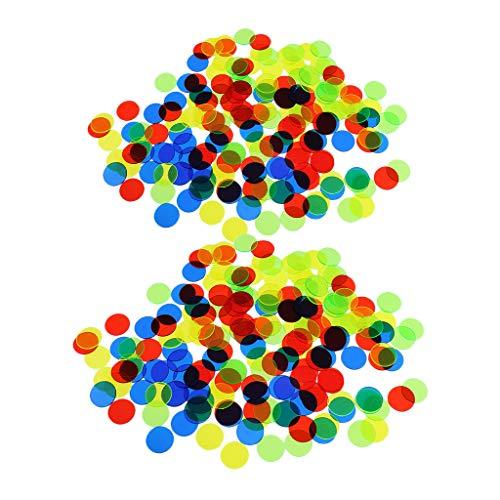 perfeclan Juego De Bingo Profesional De 200 Piezas, Contadores De Color