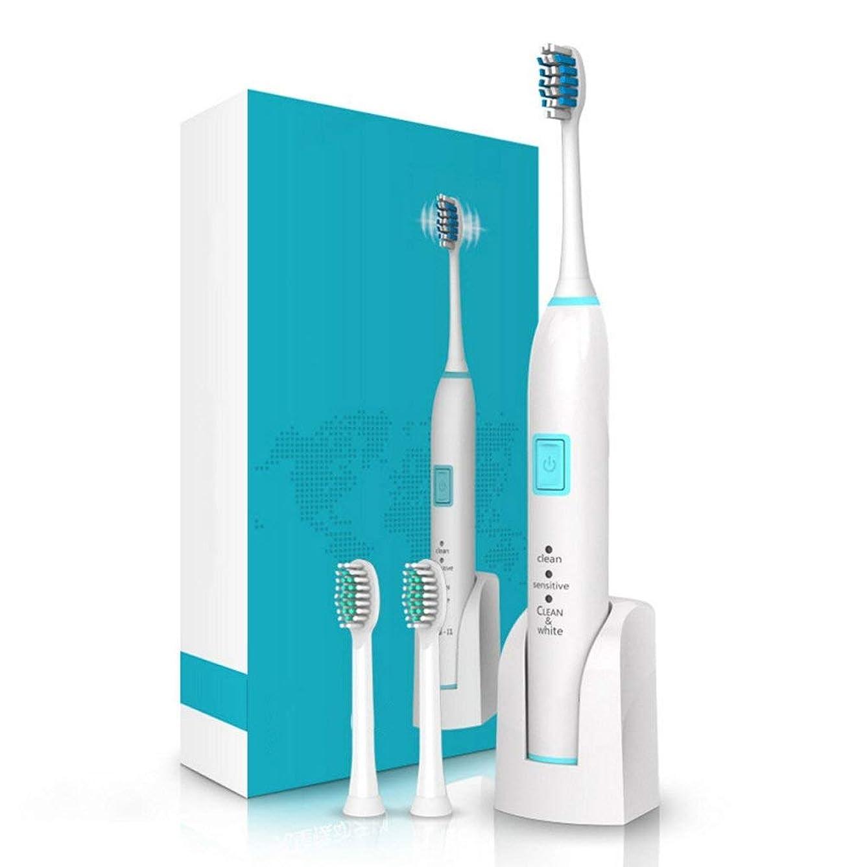 トランスミッション道路震える電動歯ブラシ2分スマートタイマー2交換ヘッド付き歯医者ソニック歯ブラシのようにきれいな歯完全に洗える