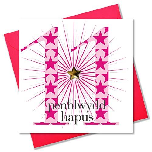 Claire Giles Età Welsh Penblwydd Hapus-Biglietto Di Auguri Di Compleanno Per Gli 11 Anni