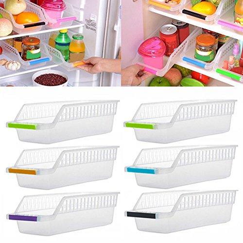 Gemini _ Mall® Plastikkorb, Lebensmittel-Behälter, für Kühlschrank, Gefrierschrank und Küchenschrank, platzsparend, plastik, Zufällige Farbauswahl, 1 Stück