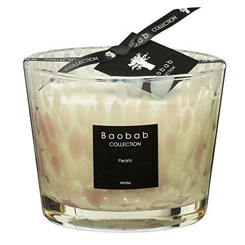 Baobab Max 10 Pearls White kaars, kaarswas, 10cm, 10x7x10 cm
