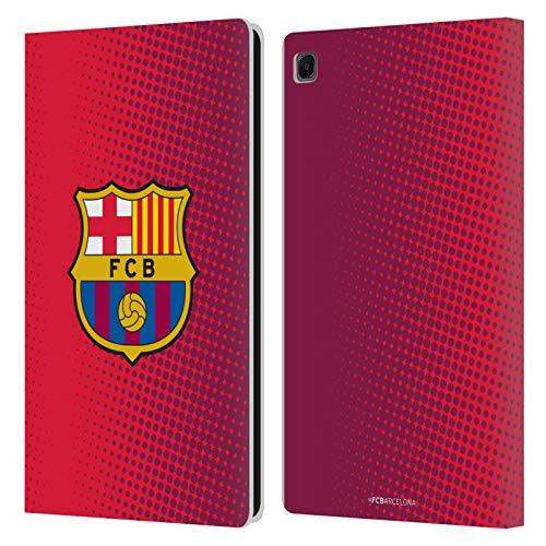 Head Case Designs Licenciado Oficialmente FC Barcelona De Medio Tono 2017/18 Crest Carcasa de Cuero Tipo Libro Compatible con Samsung Galaxy Tab S6 Lite