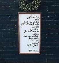 Tekenen alles wat goud is Glitter J.R.R. Tolkien gedicht hout grappige Custom grappige Home Decor