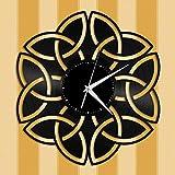 Reloj de Pared de Vinilo con Nudo Celta Amigos Decoración de la habitación del hogar Diseño Vintage Oficina Bar Habitación Decoración del hogar Idea de Regalo de año Nuevo para el Esposo