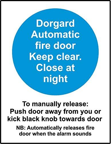 Fuoco porta attrezzatura Dorgard Safety Sign–Adesivo adesivo 300mm x 200mm