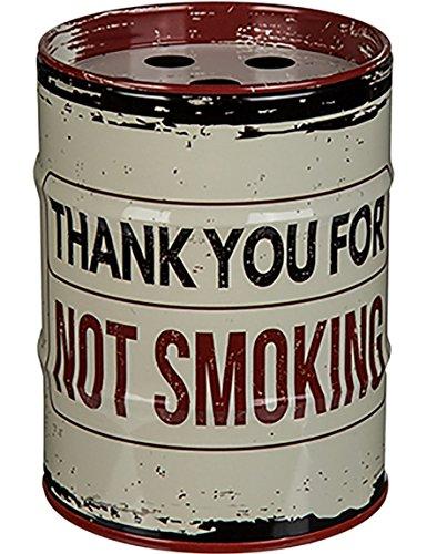 Aschenbecher Metall Sturmaschenbecher Windaschenbecher für Drinnen und Draussen »Ölfass« Smoking (Thank You for No Smoking)