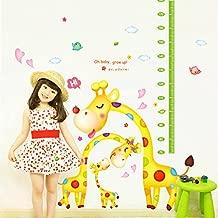 Decals Design 'Cute Giraffe Family Height Scale' Wall Sticker (PVC Vinyl, 60 cm x 90 cm x 1 cm),Multicolour
