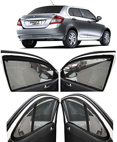 AUTOFACT Magnetic Window Sun Shades for Maruti Suzuki Swift Dzire (2012 to 2016) -Set of 4 - with Zipper