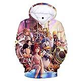 YJXDBABY-Kingdom Hearts-Jerseys de Hombre, Sudaderas Impresas en 3D, Sudaderas con Capucha Casuales, Chaquetas para niños, Ropa para niños, Chaquetas para niño/niña-XS