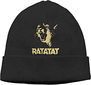AnnaBGuillaume Ratatat Wildcat Lightweight Thin Knitted Hat Autumn and Winter Beanie Hat Universal Headgear Hedging Cap