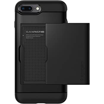 Spigen Slim Armor CS Designed for Apple iPhone 8 Plus Case (2017) / Designed for iPhone 7 Plus Case (2016) - Black
