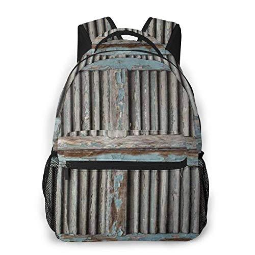 Lawenp Colección de decoración Occidental Antigua, contraventanas, Mochila Informal para la Escuela, Viajes al Aire Libre, Gran Bolsa de Moda para Estudiantes