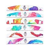 6pcs/Set 100/180 Herramientas de Belleza Profesional Pedicura Manicura Limas de Uñas Lijado Buffer Cuidado de Uñas (3)