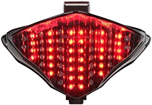 Integrated Sequential LED Tail Lights Smoke Lens for 2004-2006 Yamaha YZF R1