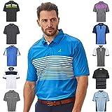 Under Par Pro Quality Breathable Wicking 8 Styles 18 Colours Golf Polo, Hombre, Estilo 1774-Marítimo Azul/Blanco, XL