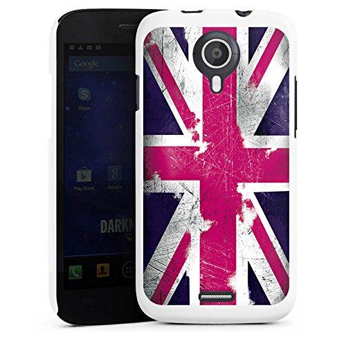 DeinDesign Wiko Darknight Hülle Case Cover Hard Case White - Union Jack - Pink