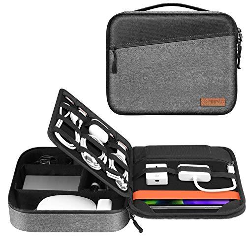 FINTIE Borsa Accessori Elettronica, 11 Pollici Tablet Custodia per 10.9  iPad Air 4|11  iPad Pro|10.2  iPad|9.7  iPad, Organizzatore Portatile da Trasporto per Cavi|Caricabatterie|USB|Adattatore