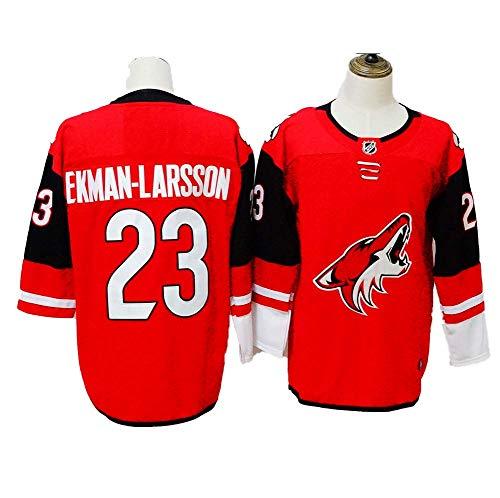 Yajun Oliver Ekman-Larsson#23 Phoenix Coyotes Camisetas Hockey Jersey sobre Hielo NHL Hombre Ropa Respirable T-Shirt de Manga Larga,L