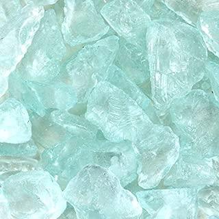 Koyal Wholesale Centerpiece Vase Filler Decorative Crushed Glass, 4.5-Pound, Diamond Blue