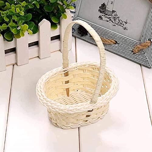WDSZXH Picknickkorb Kunststoff Weben Gemüsefrucht Picknick Garten Aufbewahrung Korb Box Kosmetik Organizer Hochzeitsfeier Süßigkeiten Geschenk Verpackungskorb