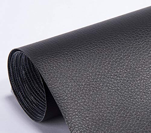 1Pcs 20x53inch Self Adhesion Fabric Faux Synthetic Leather Patches-Leather Repair Self Adhesive Patch-Leather Repair Tape-Self Adhesive Patch Synthetic Leather for Sofa Repair,Hole Repair,Car Sticker