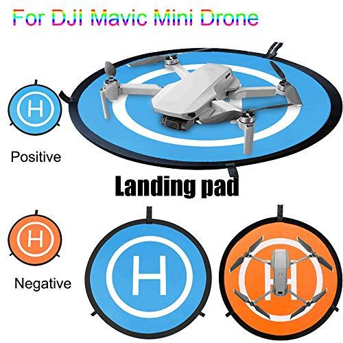 L9WEI Drone Landing Pad für DJI Mavic Mini, Landeplatz Wasserdicht Tragbare Pads Faltbare Hubschrauber Lande Plattform Heliport Startrampe Landefläche Aircraft Landungsauflage (55cm)