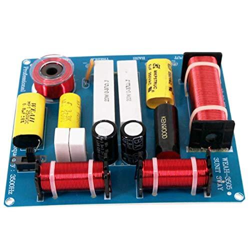 TOOGOO 2 Stuecke 300 Watt 3 Weg Verdreifachen Medium Bass Lautsprecher Frequenz Teiler Frequenzweiche Filter