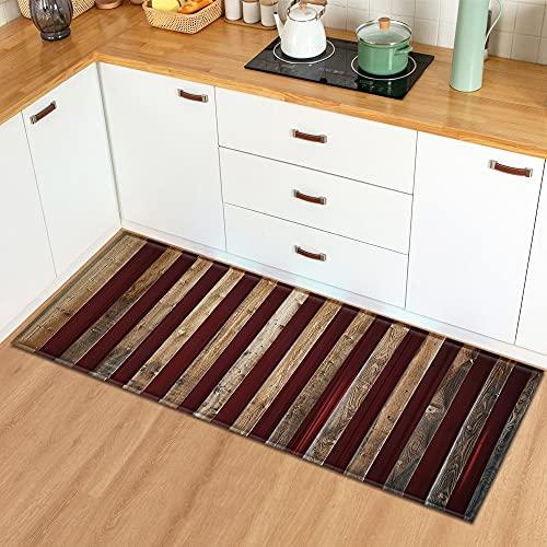 Alfombrillas de Cocina de Grano de Madera alfombras de Puerta de Entrada alfombras Decorativas para Sala de Estar alfombras Antideslizantes para Pasillo n. ° 1 40X60cm
