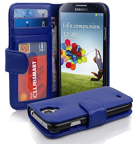 Cadorabo Funda Libro para Samsung Galaxy S4 en Azul Real – Cubierta Proteccíon con Cierre Magnético e 3 Tarjeteros – Etui Case Cover Carcasa