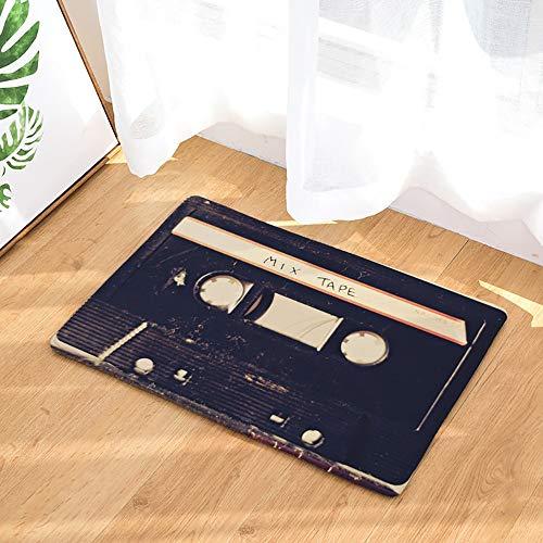 OPLJ Tappetino Antiscivolo Flanella Vintage Cassetta a Nastro Tappetino per Interni Tappetini per Porte Tappeti Tappeti Decor Portico Zerbino A10 50x80cm