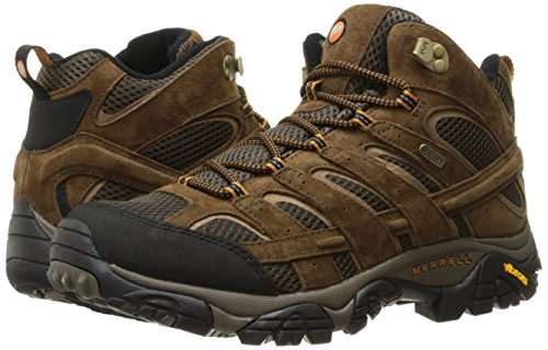 Merrell Men's Moab 2 Mid Waterproof Hiking Boot, Earth, 11 M US