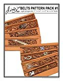 Jim Linnell - Belts Pattern Pack #1, Feathers and Crosses (Leathercraft Designs)