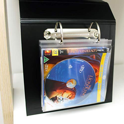 3L Es 10286- Pack de 50 Fundas Blu-Ray con Taladros para Archivo y Solapa - Almacenamiento Blu-ray y Carátula
