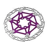 Professionnel Vtt Atv Vtt Vélo Plaquettes De Frein À Flotteur Disque 160mm 6 Bolt Rotors Disque Plaquettes De Frein Violet