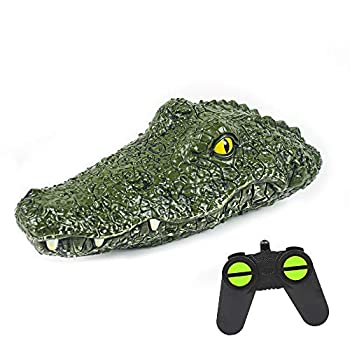 Crocodile Remote Control Boat Electric Racing Boat 2.4G High-Speed Simulation RC Alligator Head Floating Crocodile Head Waterproof Prank Toys for Pools and Lakes for Boys 8-12 Kids Toys