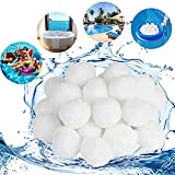 ALAKAYA Bolas de filtro – Bolas de filtro para utilizar en el sistema de filtro de arena de la piscina, bomba de filtro, filtro de arena para acuario, gran efecto de limpieza y muy económico 500 g.
