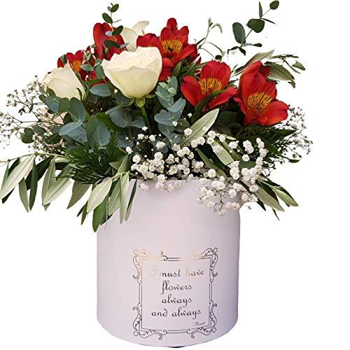 BOTANIC DESSIGN - Blumenstrauß aus frischen Naturblumen, sortiert, aus weißen Rosen, Lieferung in 24 Stunden von Montag bis Freitag.
