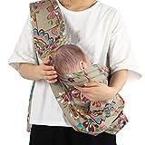Babywickeltrage, All-in-1 Stretchy Baby Wraps Freisprecheinrichtung Einstellbare Stillhülle für Kleinkinder(Dunkelbraun)