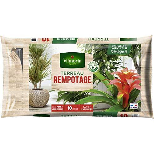 Vilmorin - Terreau rempotage plantes d'intérieur vertes et fleuries - Sac de 10 litres