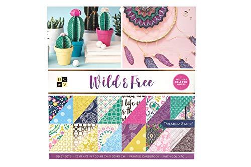 DCWV 615016 Wild and Free - Cartón de papel, multicolor
