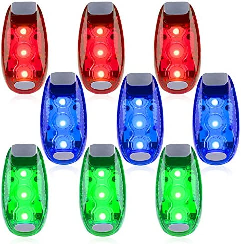 9 Pack Led Safety Light Safety Light High Visibility Strobe Running Lights Used For Bicycle product image