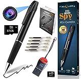 Mini cámara espía Grabación HD 1080P (con Tarjeta de Memoria de 32 GB) - Cámara espía, cámara Oculta - Mini cámara espía, cámara espía con cámara pequeña - Mini cámara Oculta + 5 TINTAS