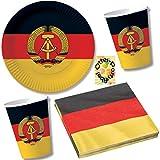 Nostalgie Ostalgie DDR Party-Set 40tlg. für 10 Gäste : Teller Becher Servietten