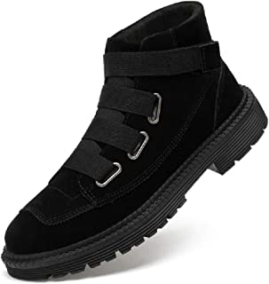 TAOBEGJ Hommes Bottes Militaires en Plein Air Randonnée Formation Bottes Courtes Motard Chevalier Bottines Chaussures Occi...